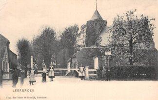 Ansichtkaart Leerbroek bij Leerdam 1906 met hek Verboden voor motorvoertuigen HC18470