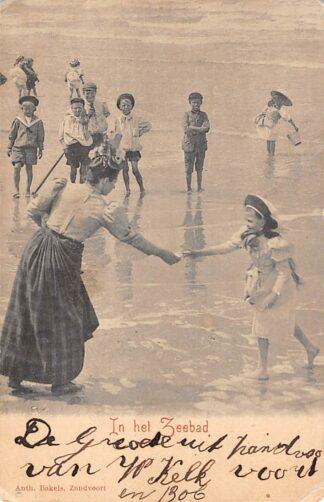 Ansichtkaart Zandvoort In het Zeebad Strand en zee HC18483