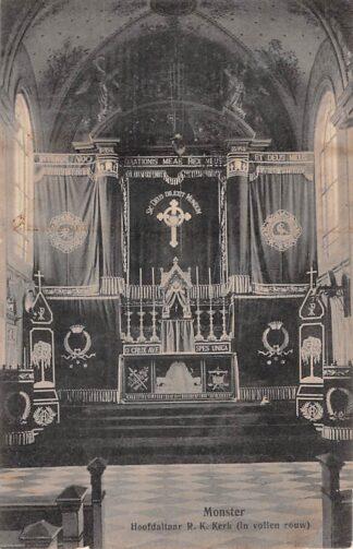 Ansichtkaart Monster Hoofdaltaar R.K. Kerk (in vollen rouw) HC18485