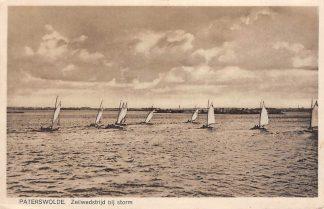 Ansichtkaart Paterswolde Zeilwedstrijd bij storm 1932 HC18513