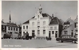 Ansichtkaart Oude Tonge Raadhuis Auto's Goeree-Overflakkee HC18514