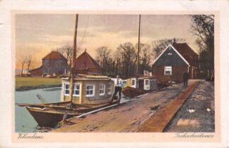 Ansichtkaart Volendam Trekschuitveer 1923 Binnenvaart schepen Scheepvaart HC18545