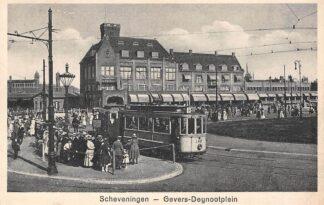 Ansichtkaart Scheveningen Gevers Deijnootplein met HTM Tram 142 Lijn 9 Den Haag 1930 HC18556