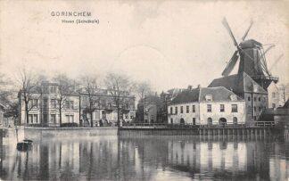 Ansichtkaart Gorinchem Haven Schutkolk Molen 1909 HC18563