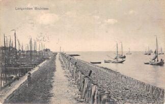 Ansichtkaart Bruinisse Langendam Vissers schepen 1915 HC18581