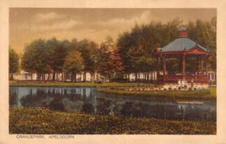 Ansichtkaart Apeldoorn Oranjepark met Muziektent HC18589