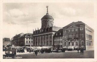 Ansichtkaart Duitsland Potsdam Rathaus Markt Tram C 1933 Deutschland Europa HC18606