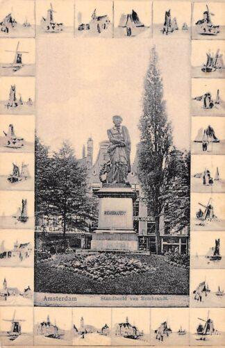Ansichtkaart Amsterdam Standbeeld van Rembrandt 1918 Monument HC18632