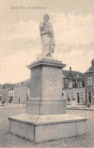 Ansichtkaart Brouwershaven Jacob Cats Monument 1918 HC18633