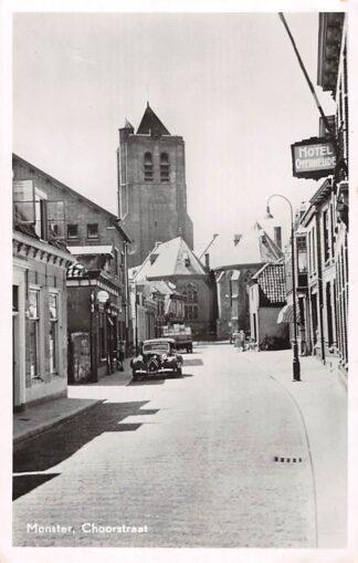 Ansichtkaart Monster Choorstraat met auto Hotel Overheijde 1951 Westland HC18634