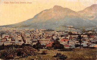 Ansichtkaart Zuid-Afrika Cape Town and Devil's Paek 1916 Censuurstempel Filatelie South Africa Afrika HC18641