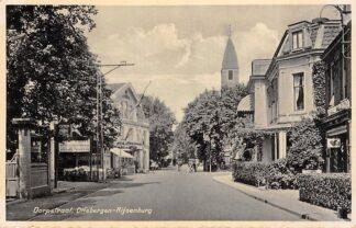 Ansichtkaart Driebergen Rijsenburg Dorpstraat Hotel Restaurant Het Wapen van Driebergen Kerk 1936 HC18669