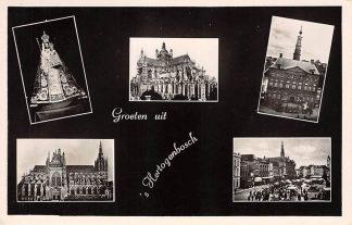 Ansichtkaart Den Bosch Groeten uit 's-Hertogenbosch 1951 HC18682