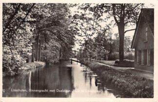 Ansichtkaart Linschoten Binnengracht met Doelelaan Huize Linschoten Montfoort Woerden 1956 HC18683
