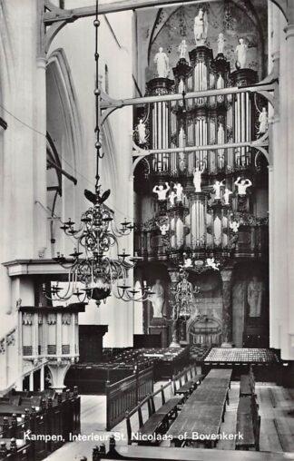 Ansichtkaart Kampen Interieur St. Nicolaas- of Bovenkerk Orgel 1968 HC18706