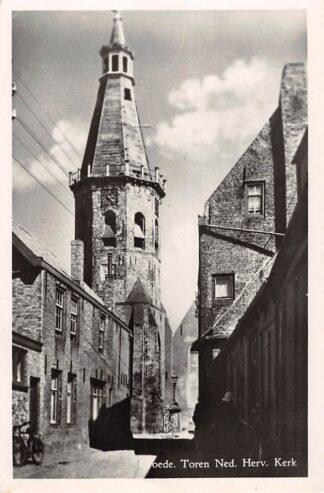 Ansichtkaart Groede Toren Ned. Hervormde Kerk Sluis Zeeuws-Vlaanderen HC18711