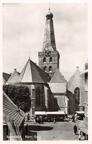 Ansichtkaart Barneveld Hervormde Kerk 1948 Markt Veluwe HC18712