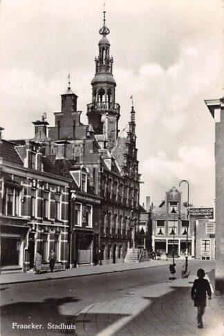 Ansichtkaart Franeker Stadhuis 1949 HC18715