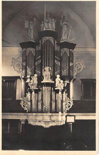 Ansichtkaart Drachten Ned. Hervormde Kerk Orgel informatie op achterzijde
