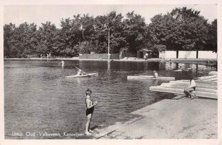 Ansichtkaart Naarden Bussum Uitsp. Oud-Valkeveen Kanovijver Kinderbad 1949 HC18765