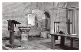 Ansichtkaart Anloo Doopvont Ned. Hervormde Kerk 1974 AA en Hunze HC18774