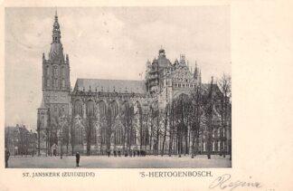 Ansichtkaart 's-Hertogenbosch St. Jans kerk Zuidzijde 1906 Den Bosch HC18775