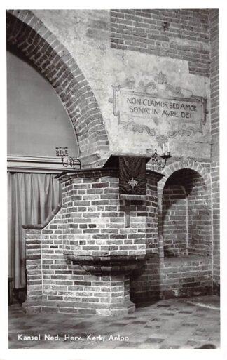 Ansichtkaart Anloo Kansel Ned. Hervormde Kerk Aa en Hunze HC18780