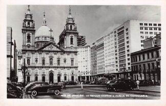 Ansichtkaart Brazilië Rio de Janeiro Av. Getulio Vargas e Igreja da Candelaria Auto Brasil Zuid-Amerika HC18794
