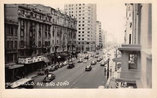 Ansichtkaart Brazilië Sao Paulo Av. Sao Joao Ritz Bioscoop Brasil Zuid-Amerika HC18797