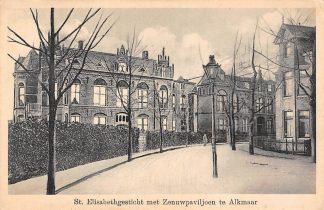 Ansichtkaart Alkmaar St. Elisabethgesticht met Zenuwpaviljoen 1926 Ziekenhuis HC18810