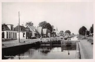 Ansichtkaart Appelscha Dorpsgezicht Kaan met sluis Scheepvaart 1949 HC18811