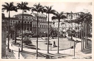 Ansichtkaart Brazilië Sao Paulo Teatro Municipal Hotel Esplanada Fotokaart Brasil Zuid-Amerika HC18817