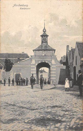 Ansichtkaart Aardenburg Kaaipoort met soldaten Militair 1910 Zeeuws-Vlaanderen hc18822