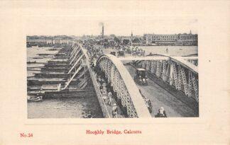 Ansichtkaart India Calcutta Kolkata Hooghly Bridge Azië HC18833