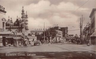 Ansichtkaart India Calcutta Kolkata Esplanade Corner Tram Azië HC18842