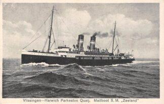 Ansichtkaart Vlissingen - Harwich Parkeston Quaij Mailboot S.M. Zeeland Schepen Scheepvaart HC18846