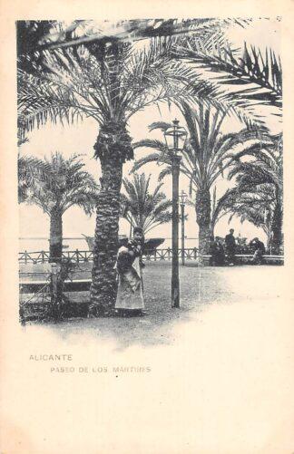 Ansichtkaart Spanje Alicante Paseo de Los Martires Espana Spain Europa HC18862