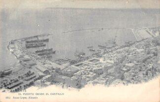 Ansichtkaart Spanje Alicante El puerto desde el castillo Espania Spain Europa HC18874