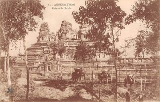 Ansichtkaart Cambodja Angkor-Thom Ruines de Takeo Cambodia Azië Olifanten met berijders HC18899