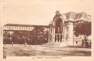 Ansichtkaart Vietnam Saigon Ho Chi Minhstad Place du Grand Theatre Azië HC18901