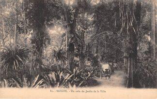 Ansichtkaart Vietnam Saigon Ho Chi Minhstad Un coin du Jardin de la Ville Azië HC18908