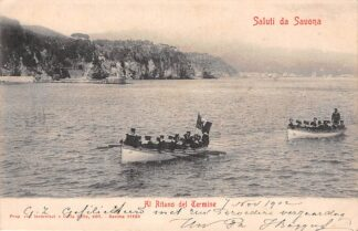 Ansichtkaart Italië Saluti da Savona Al Ritano del Termine 1902 Marine Scheepvaart Italia Europa HC18931