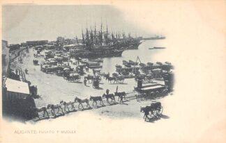 Ansichtkaart Spanje Alicante Puerto y Muelle Espana Spain Europa Haven Schepen HC18942