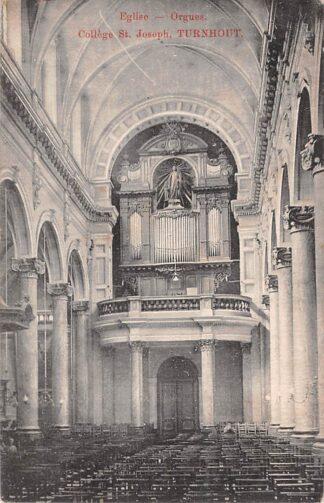 Ansichtkaart België Turnhout Elise - Orgue College St. Joseph 1911 Europa Kerk met orgel HC19058