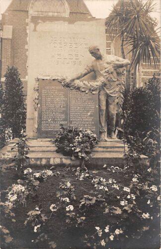 Ansichtkaart België Monument De gemeente Moerbeke aan hare Helden 1914-1918 WO1 Fotokaart Militair Europa HC19060