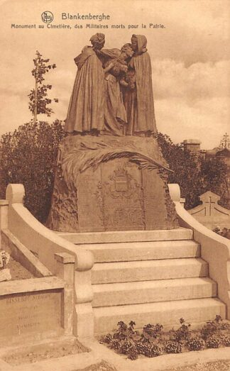 Ansichtkaart België Blankenberghe Monument au Cimetiere des Militaires Morts pour la Patrie WO1 1914-1918 Europa HC19061