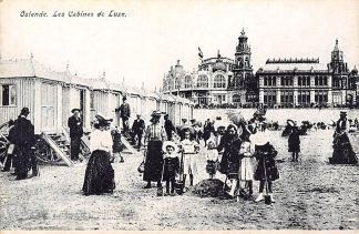 Ansichtkaart België Oostende Les Cabines de Luxe op het strand Europa HC19081