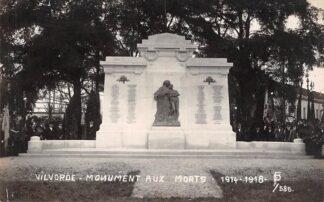 Ansichtkaart België Vilvoorde Monument aux Morts 1914-1918 Fotokaart WO1 Militair Europa HC19082