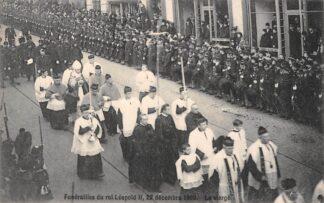 Ansichtkaart België Brussel Begrafenis Funerailles du roi Leopold II 22 decembre 1909 Le clerge Europa HC19099