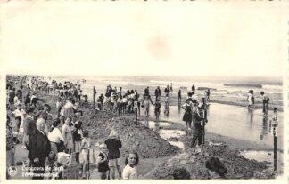 Ansichtkaart België De Panne Fortenwedstrijd op het strand 1960 HC19110